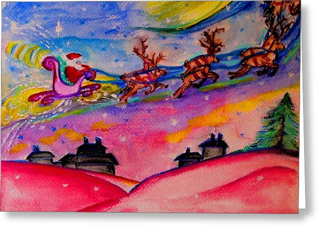 December 24th Greeting Card by Helena Bebirian
