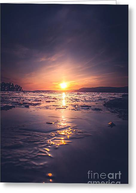 Beach Greeting Cards - December Greeting Card by HappyMelvin