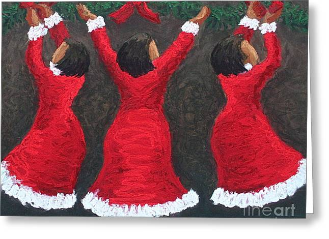 Hall Pastels Greeting Cards - Deck The Halls Greeting Card by Christine Fontenot