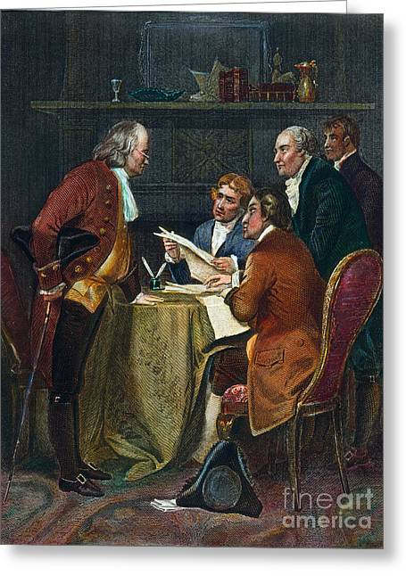 Declaration Committee Greeting Card by Granger
