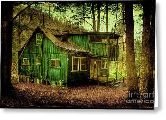 Abandoned House Greeting Cards - Declining Greeting Card by Michael Eingle