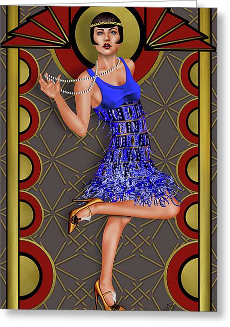 Deco Lumiere Greeting Card by Troy Brown