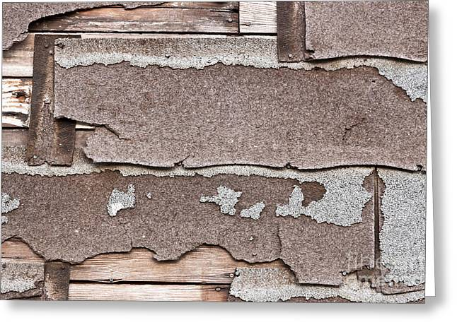 Material Composition Greeting Cards - Decomposing Asbestos Shingles Greeting Card by Inga Spence