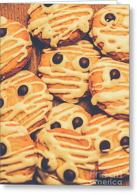 Decorated Shortbread Mummy Cookies Greeting Card by Jorgo Photography - Wall Art Gallery