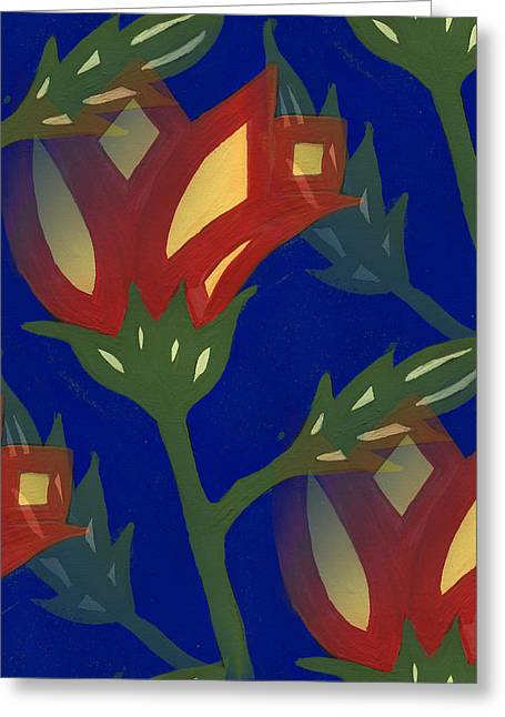 Flowers On Line Greeting Cards - Decorative Flowers Greeting Card by Kathleen Sartoris