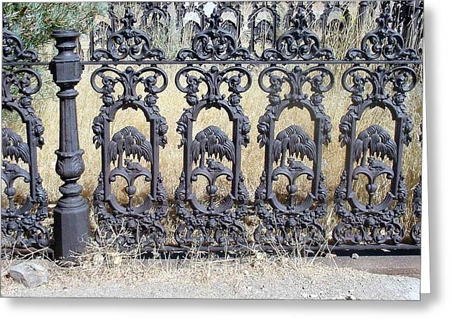 Antique Ironwork Greeting Cards - Decorative Ironwork Greeting Card by Stacy Christopherson