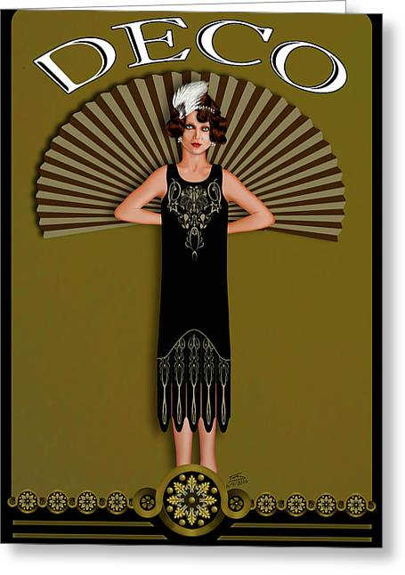 Decorum Greeting Card by Troy Brown