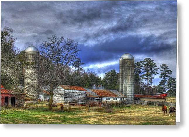 Dedication Boswell Dairy Farm Greene County Ga Greeting Card by Reid Callaway