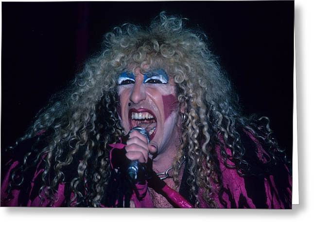 Dee Snider Of Twisted Sister Greeting Card by Rich Fuscia