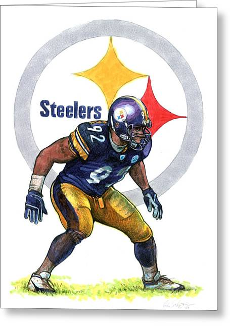 Pittsburgh Drawings Greeting Cards - Deebo Greeting Card by Erik Schutzman