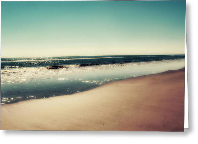 Panoramic Ocean Photographs Greeting Cards - Deep Blue Greeting Card by Amy Tyler