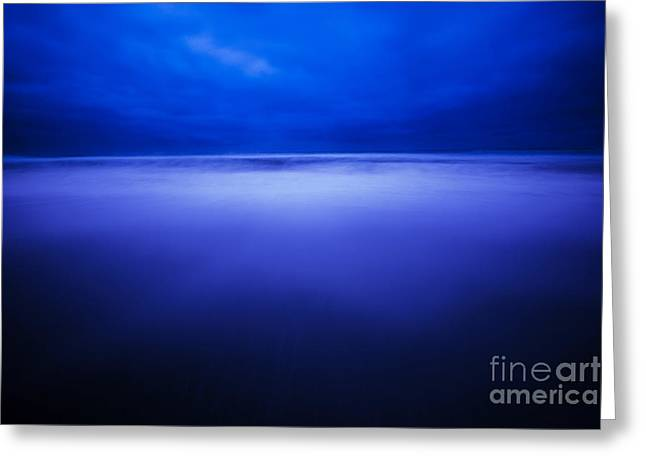 Scenic Greeting Cards - Deep Blue Greeting Card by Jon Olmstead