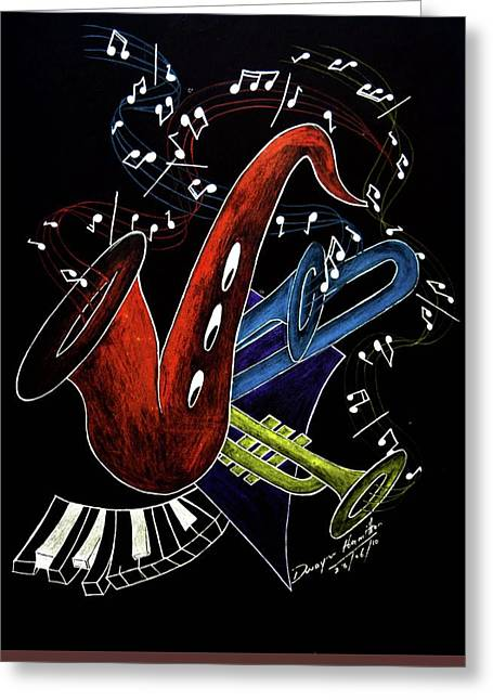 Black Top Greeting Cards - Deep Blues  Greeting Card by Dwayne  Hamilton