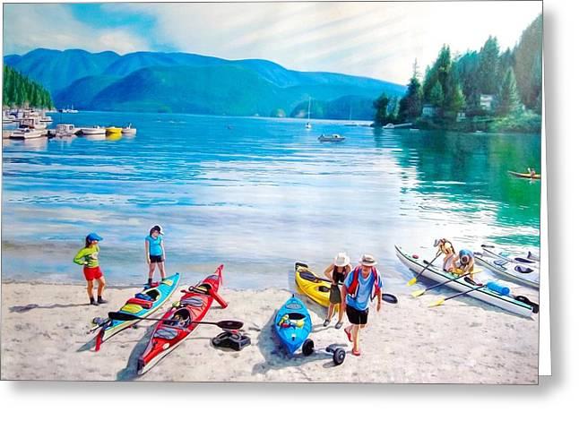 Deep Cove Kayaks Greeting Card by Warren Chiu