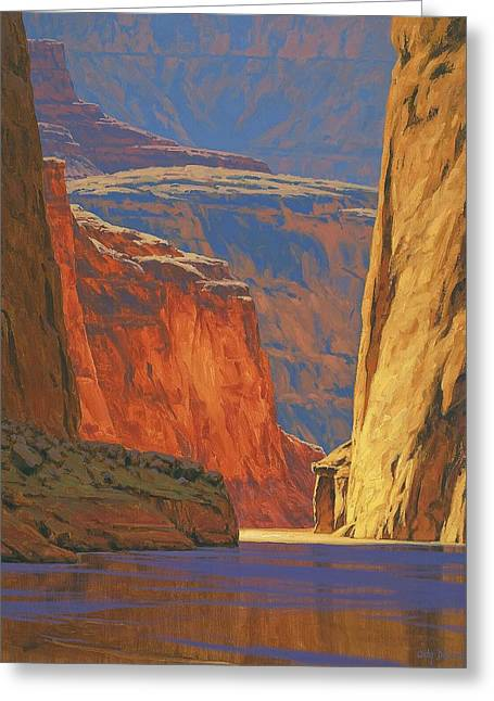 Landscape Art Greeting Cards - Deep in the Canyon Greeting Card by Cody DeLong
