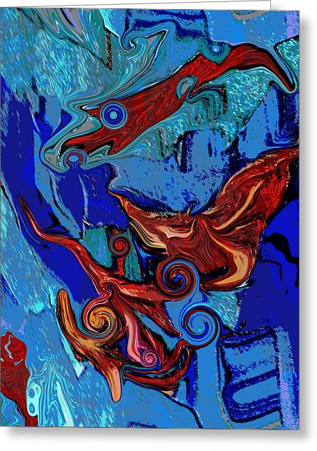 Shades Of Red Greeting Cards - Deep in the Sea Greeting Card by Elva Robinson