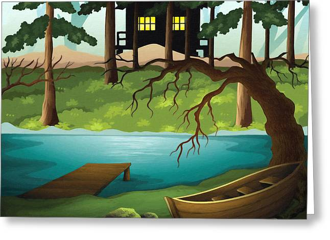 The Houses Greeting Cards - Deep In The Swampy Forest Greeting Card by L Wright