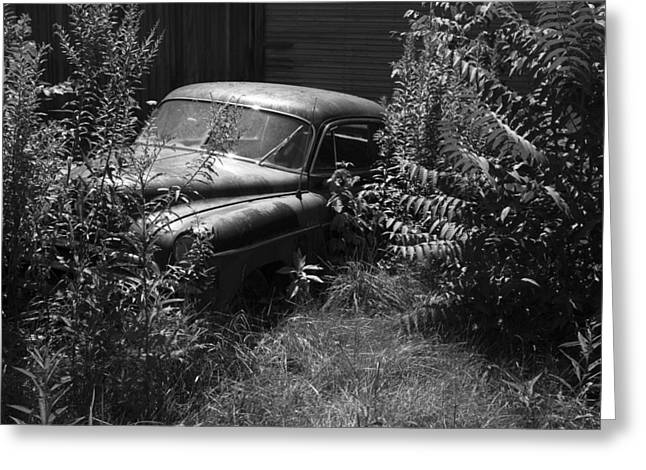 Rusted Cars Greeting Cards - Deep in the Weeds 2 Greeting Card by Jeff Roney