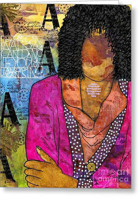 Survivor Art Greeting Cards - Deep in Thought Greeting Card by Angela L Walker