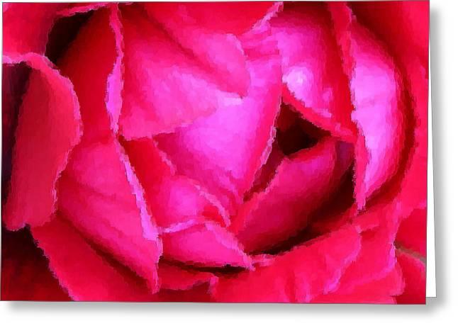 Deep Inside the Rose Greeting Card by Kristin Elmquist