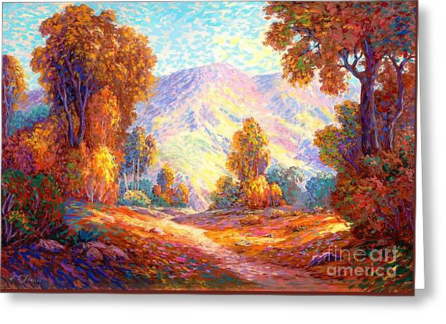 Radiant Peace, Colors Of Fall Greeting Card by Jane Small
