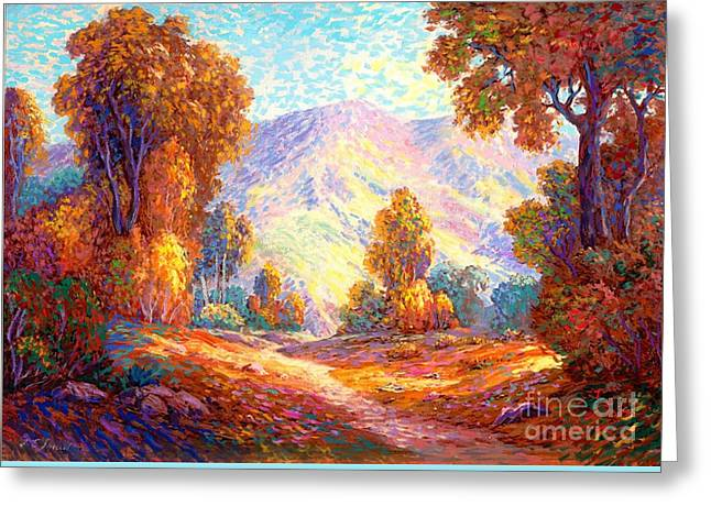 Fall Scene Greeting Cards - Deep Peace Greeting Card by Jane Small