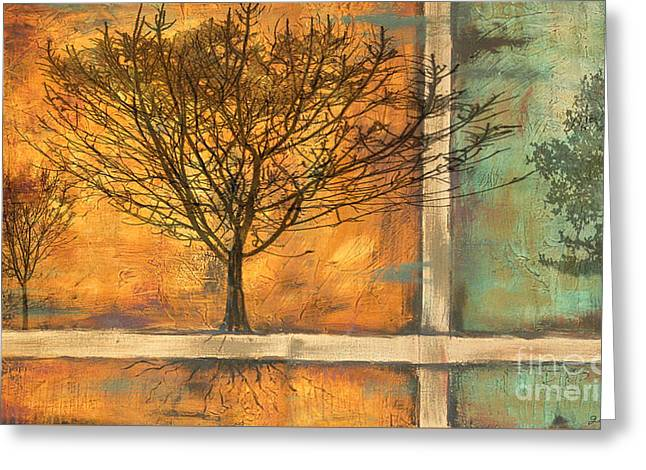 Tree Roots Paintings Greeting Cards - Deep Roots Greeting Card by Jean Plout