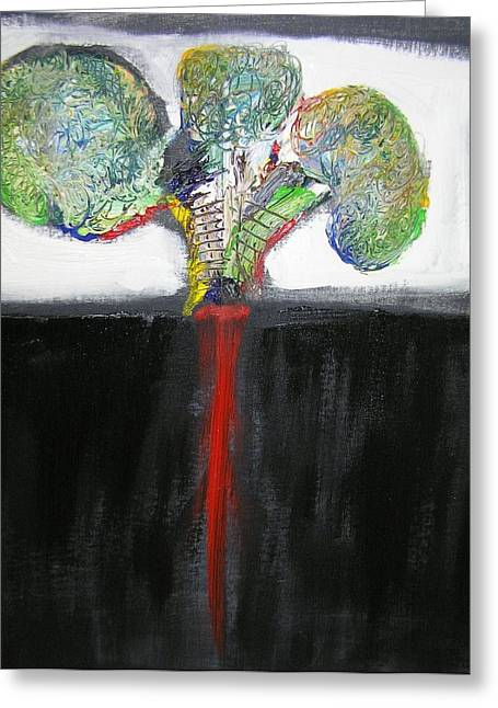 Tree Roots Paintings Greeting Cards - Deep Roots Greeting Card by Jimmy King
