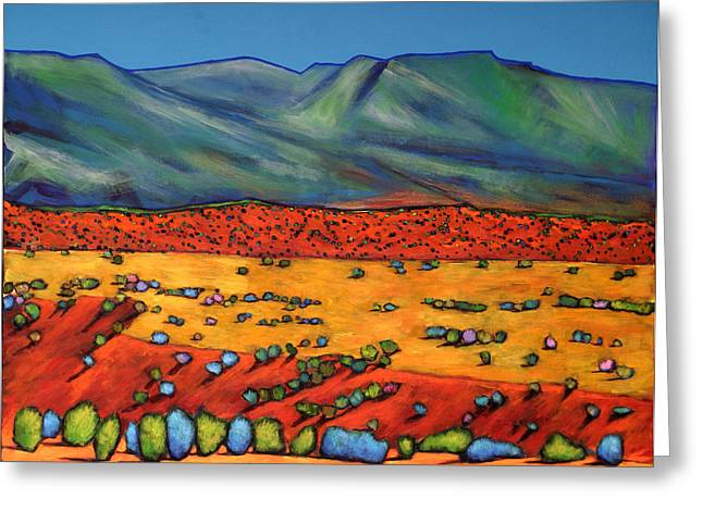 Santa Fe Desert Greeting Cards - Deep Shadows Greeting Card by Johnathan Harris