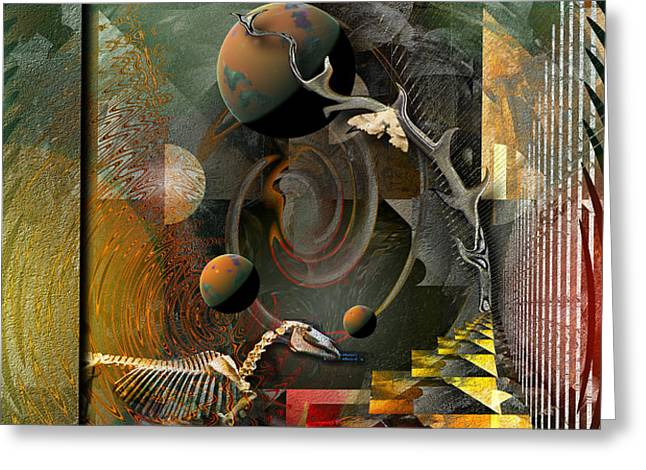 Deep Soul Journey Greeting Card by Mimulux patricia no