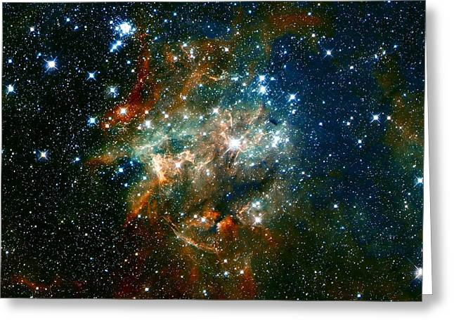 Space Clouds Greeting Cards - Deep Space Star Cluster Greeting Card by The  Vault - Jennifer Rondinelli Reilly