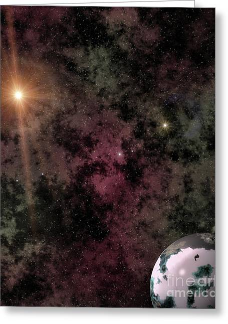 Deep Space Voyages Aronis Edition Greeting Card by Robert Radmore
