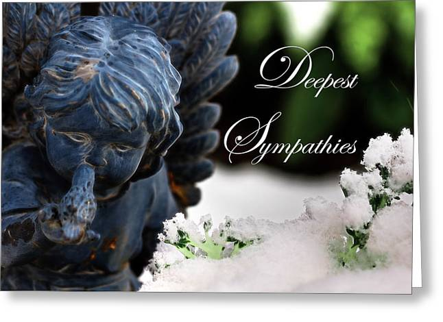Deepest Sympathies Angel Greeting Card by Shelley Neff