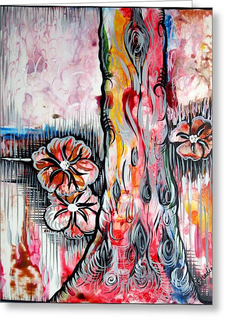Deeply Rooted V Greeting Card by Shadia Derbyshire
