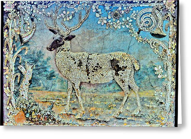 Mikhailovich Greeting Cards - Deer. Greeting Card by Andy Za