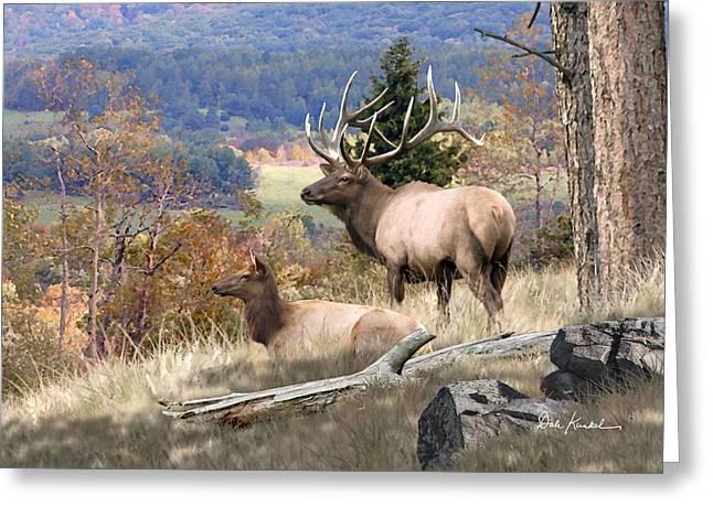 Deer Art - Return Of The Mighty Elk Greeting Card by Dale Kunkel Art