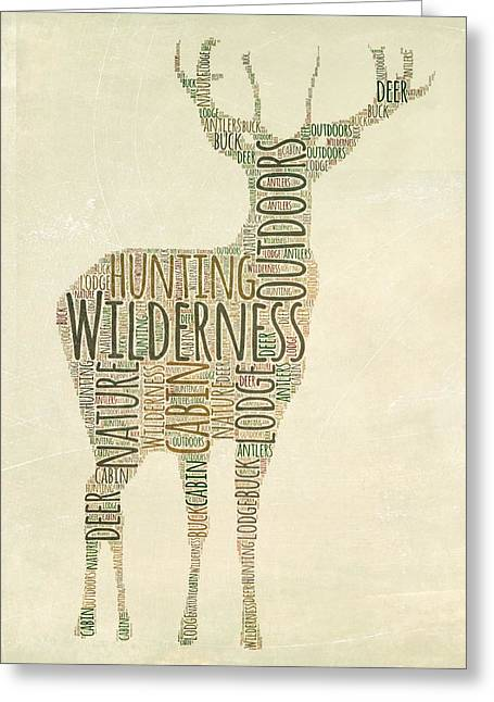 Deer Greeting Card by Brandi Fitzgerald