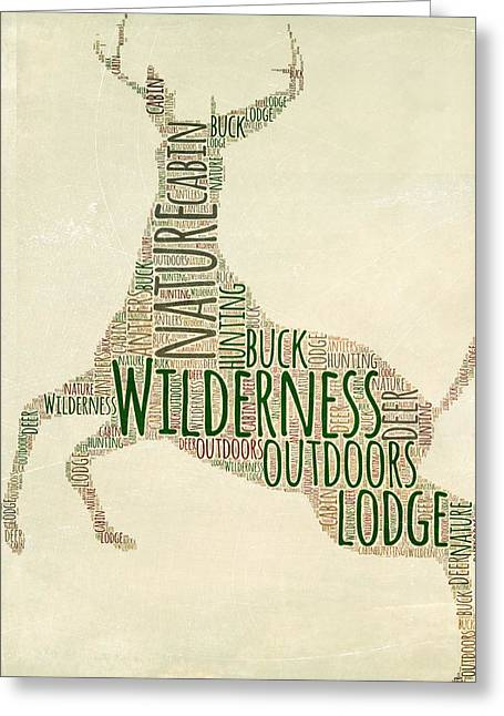 Deer Leaping Greeting Card by Brandi Fitzgerald