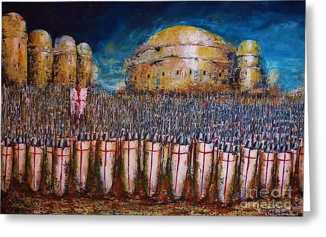 Defence Of Jerusalem Greeting Card by Kaye Miller-Dewing