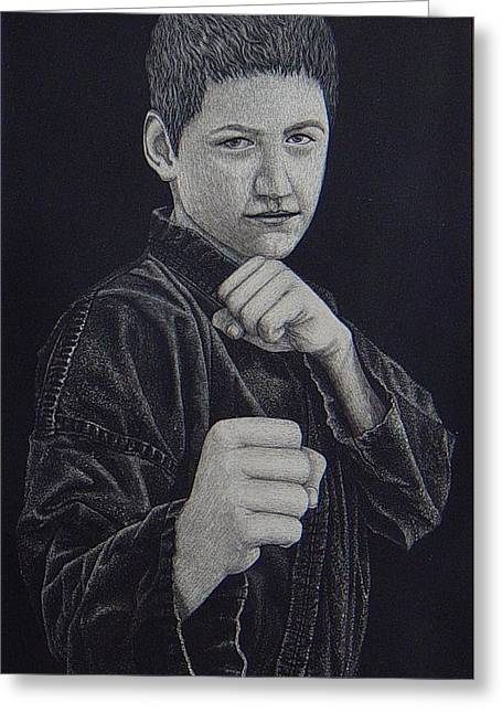 Gi Paintings Greeting Cards - Defend Yourself Greeting Card by Ron Sylvia