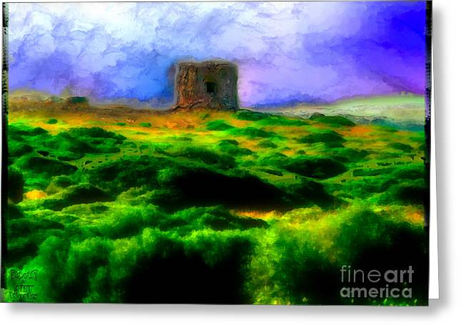 Ebsq Greeting Cards - Defense Tower Greeting Card by Dee Flouton