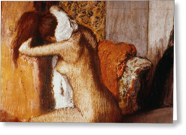 Degas: After The Bath Greeting Card by Granger