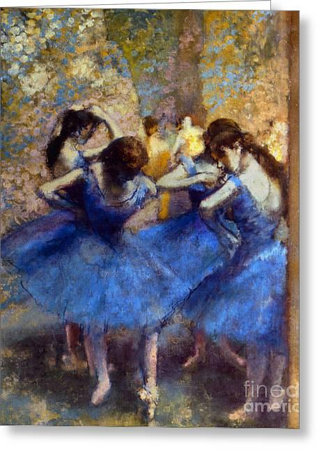 Degas: Blue Dancers, C1890 Greeting Card by Granger