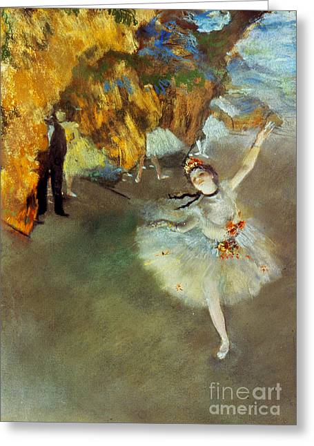 Stage Greeting Cards - Degas: Star, 1876-77 Greeting Card by Granger