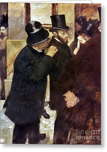 Degas: Stock Exchange Greeting Card by Granger