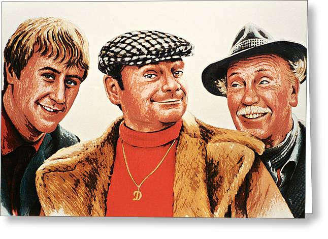Comedian Greeting Cards - Del Boy Rodney and Grandad Greeting Card by Andrew Read