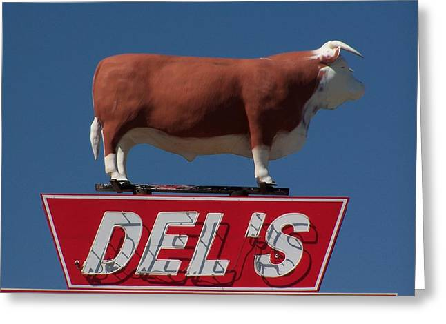 Roadside Art Greeting Cards - Del Greeting Card by David Gianfredi