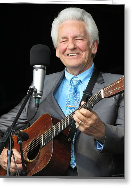 Gospel Greeting Cards - Del McCoury - 03 Greeting Card by Julie Turner