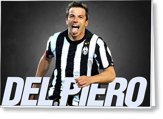 Del Piero Greeting Card by Semih Yurdabak