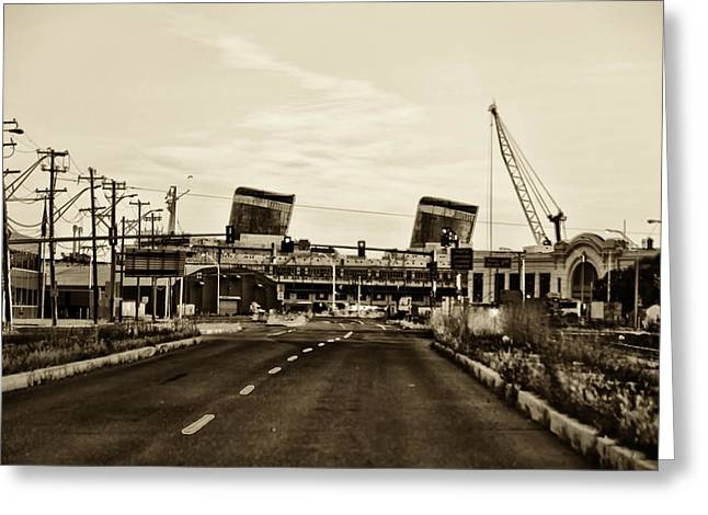 Delaware Digital Art Greeting Cards - Delaware Avenue - SS United States Greeting Card by Bill Cannon